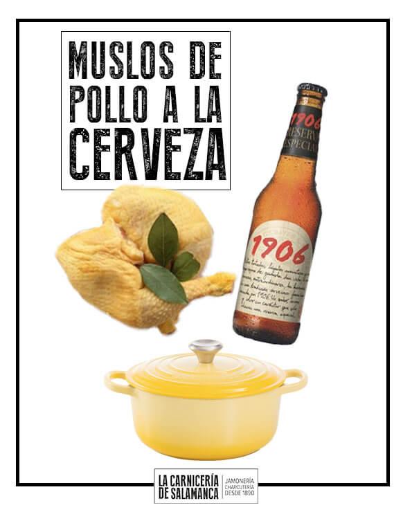 Muslos de pollo a la cerveza