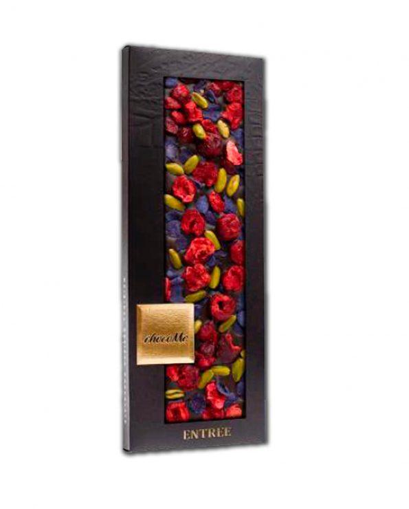 Chocolate negro con flores -