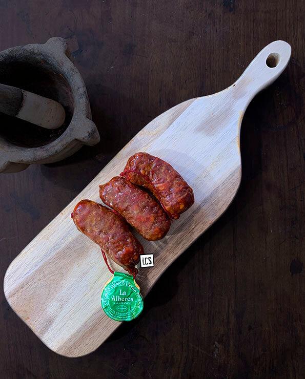 Chorizo picante de La Alberca, chorizo de La Alberca, Longaniza de La Alberca.