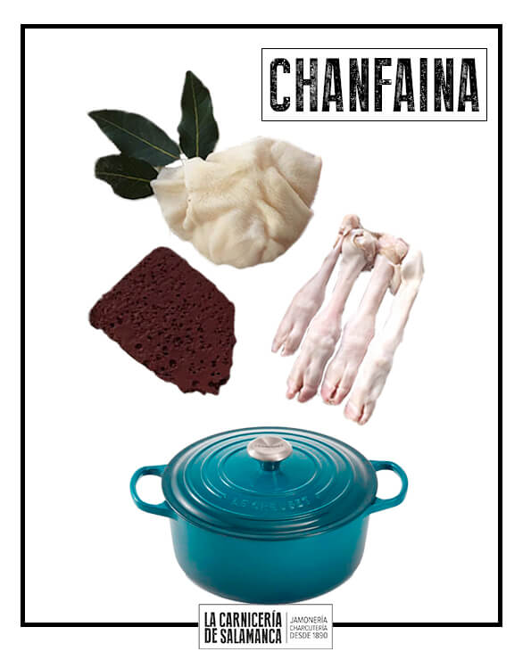 Ingredientes para chanfaina