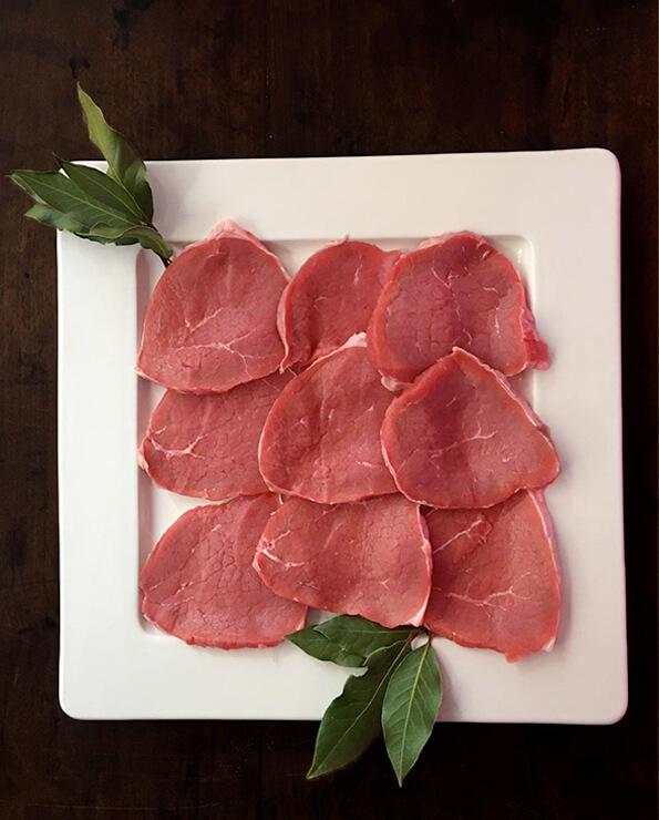 Comprar filetes de redondo de ternera online. Filetes de redondo de ternera. Filetes de ternera tiernos. Filetes de ternera sin nervio.