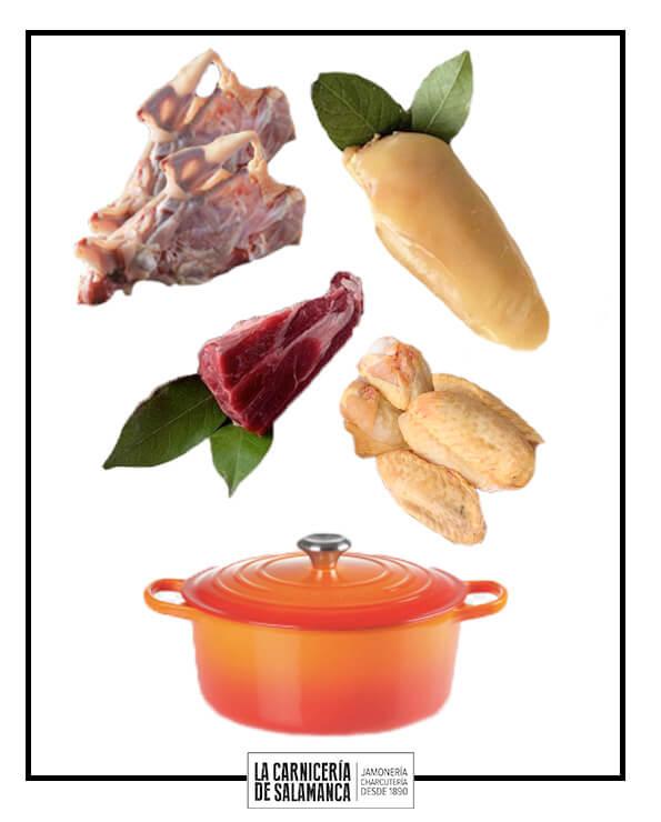 ingredientes para cocinar caldo de pollo