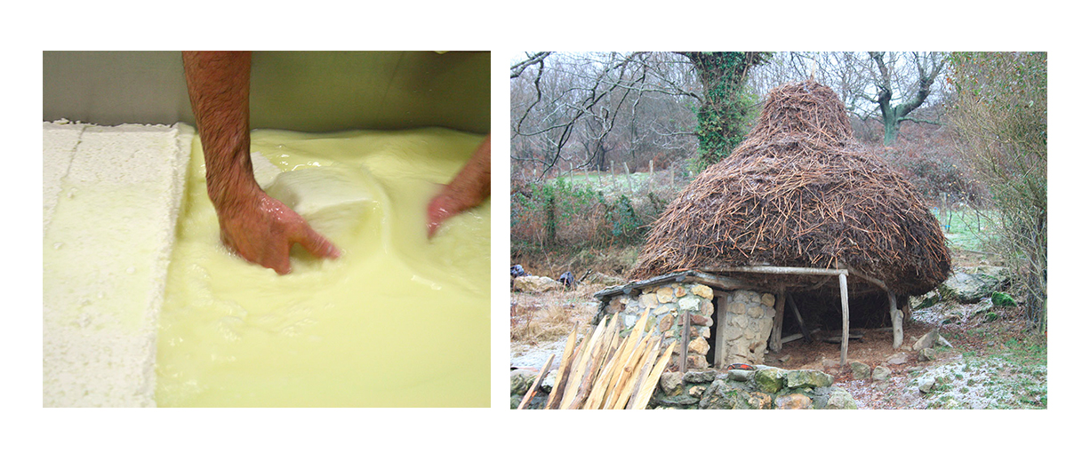 Elaboración del queso Idiazábal disponible para comprar en La Carnicería de Salamanca